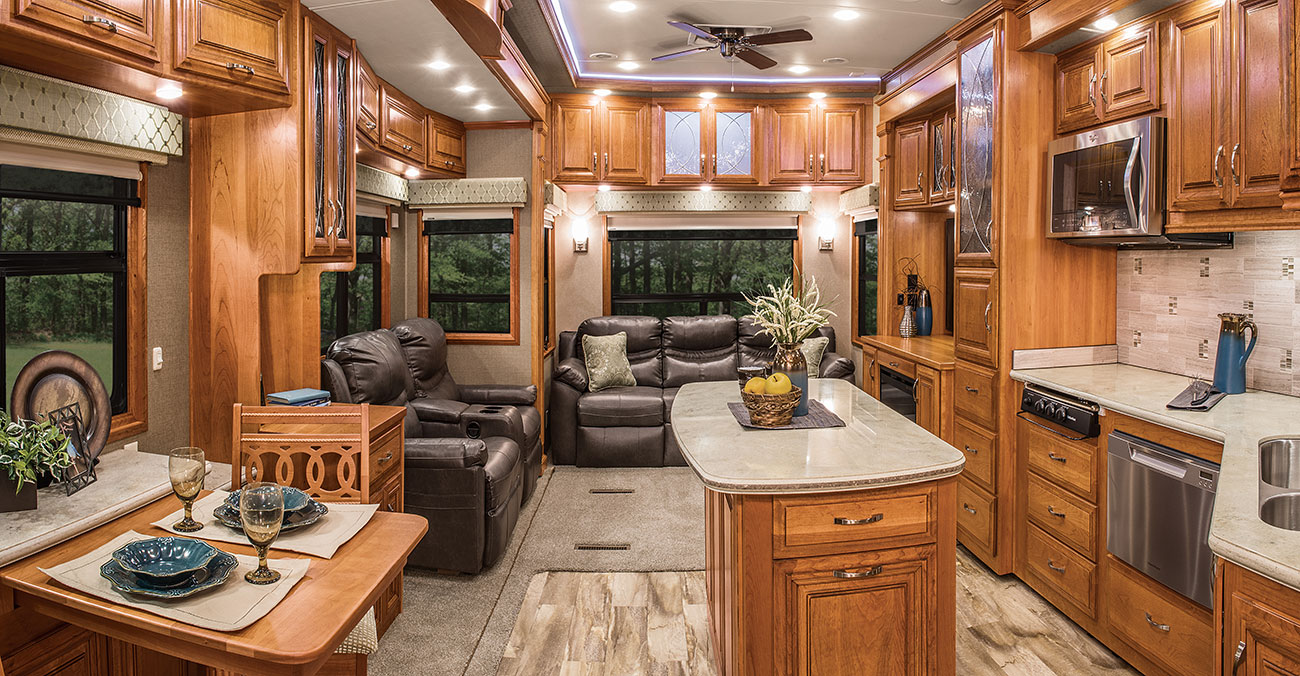Photo gallery mobile suites drv for 2016 luxury front living room 5th wheel